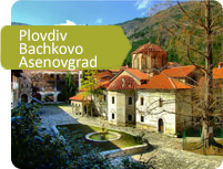 Plovdiv, Bachkovo monastery and fortress Asenovgrad